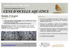 Dissabte 21 de gener, cens d'ocells aquàtics a l'estany d'Ivars i Vila-sana