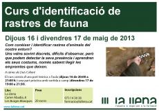 Curs d'identificació de rastres de fauna
