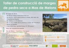 Taller de construcció de marges de pedra seca a Mas de Melons