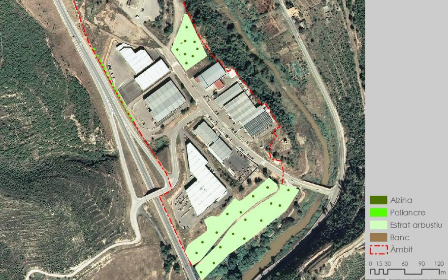 Estudio de mejora paisajística del polígono industrial de La Pobla Nort de Súria