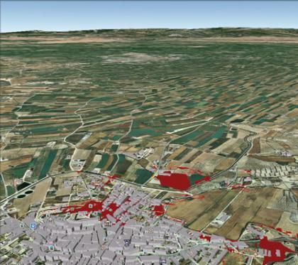 Plànol: Estudi d'impacte i integració paisatgística d'una activitat industrial en SNU a Arbeca