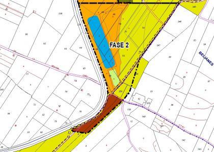 """Plànol: Seguiment ambiental de l'activitat extractiva """"Pla de les masies"""" al TM d'Arbeca"""