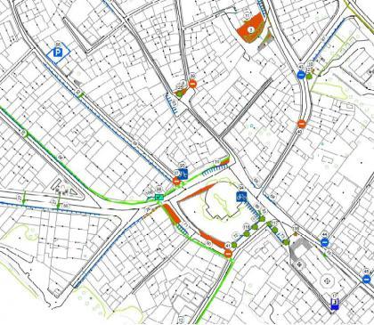Plànol: Estudi per a la millora del paisatge urbà de la Granadella