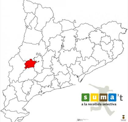 Plano: Campaña de implantación del nuevo sistema de recogida en la comarca del Pla d'Urgell