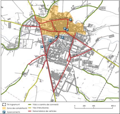 Plànol: Estudi d'Avaluació de Mobilitat Generada per al POUM d'Agramunt