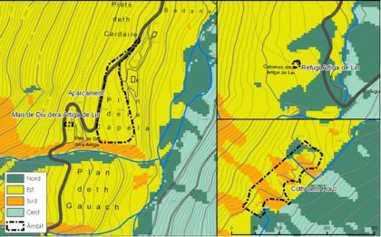 Plànol: Estudi d'impacte i integració paisatgística a l'Artiga de Lin i entorns