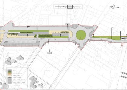 Plànol: Informe tècnic ambiental sobre l'estudi informatiu de la integració urbana a Balaguer de la línia ferroviària Lleida-La Pobla de Segur