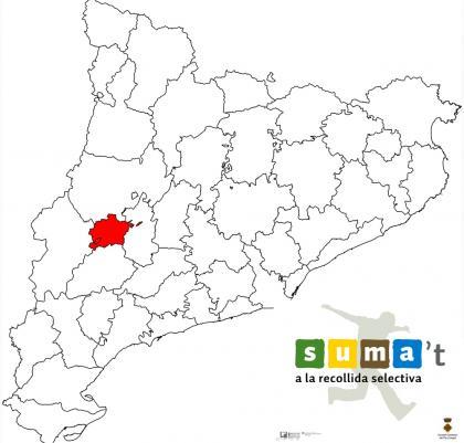 Plànol: Campanya d'implantació del nou sistema de recollida a la comarca del Pla d'Urgell