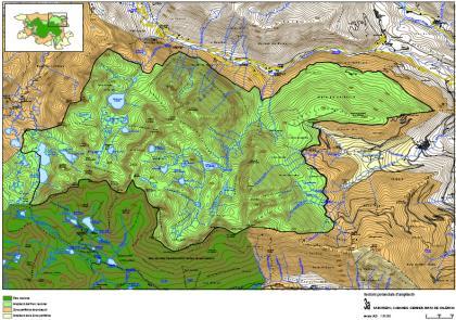 Plànol: Informe tècnic per a l'ampliació del Parc Nacional d'Aigüestortes- Estany de Sant Maurici i zona perifèrica de protecció