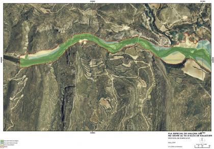 Plano: Plan Especial para la mejora del río Segre a su paso por Alòs de Balaguer