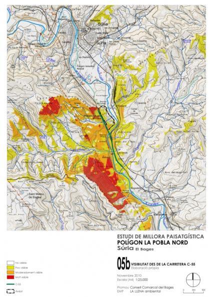Plano: Estudio de mejora paisajística del polígono industrial de La Pobla Nort de Súria