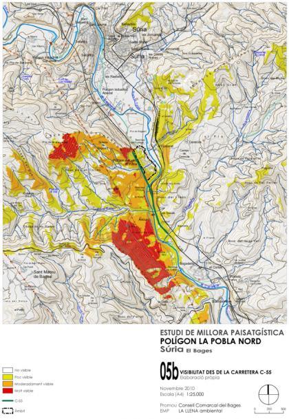 Plànol: Estudi de millora paisatgística del polígon industrial de la Pobla Nord de Súria