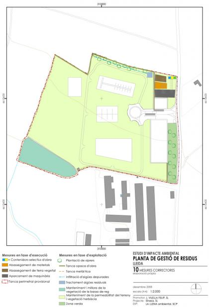 Plànol: Estudi d'impacte ambiental i estudi d'integració paisatgística d'un centre de gestió de residus dins d'un PE en sòl no urbanitzable