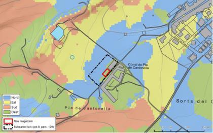 Plànol: Estudi d'impacte i integració paisatgística d'un magatzem agrícola a la Pobla de Cèrvoles