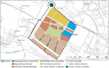 Plànol: Modificació puntual del Pla Parcial SUR 32 a Lleida