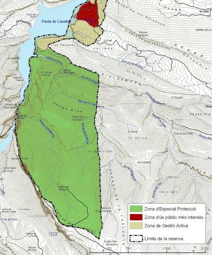 Plànol: Revisió del Pla d'usos i gestió de la Reserva de Mont-rebei