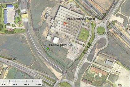 Plànol: Estudi hidrogeològic d'una activitat industrial a Montblanc